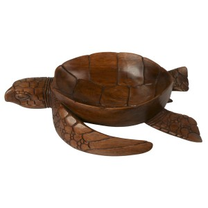 Suar Wood Turtle Bowl 40cm