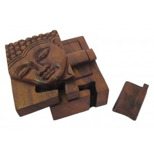 Suar Wood Buddha Puzzle Box