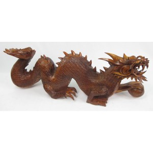 Suar Wood Chinese Dragon 80cm