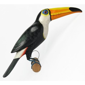 Albesia Wood Toucan On Perch