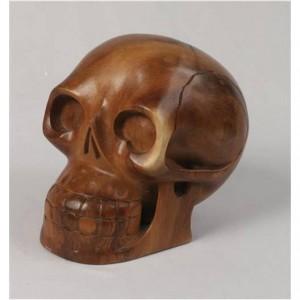 Suar Wood Skull - 14cm