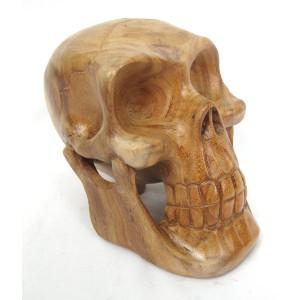 Suar Wood Skull - 20cm
