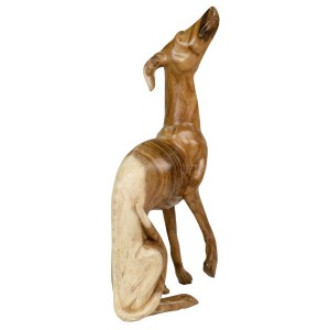 Suar Wood Greyhound 50cm - Natural Finish