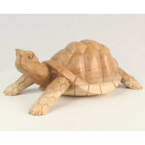 Suar Wood Tortoise/Turtle Natural Finish - 30cm