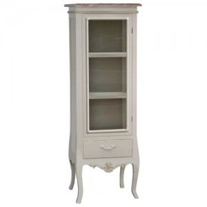 Loire Range Antique Cream French Style China Cabinet