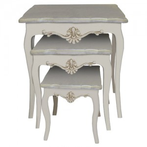 Loire Antique Cream French Style Nest of Tables