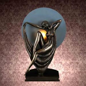 Art Deco Celia Figurine Table Lamp + Free Bulb