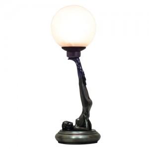 Art Deco Balancing Act Table Lamp + Free Bulb