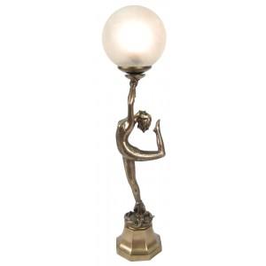 Art Deco Acrobat Lady Figurine Table Lamp + Free Bulb