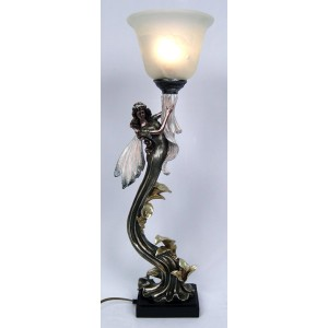 Art Deco Up To The Sky Fairy Uplight Lamp