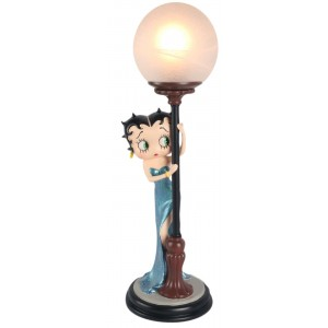Betty Boop Hide & Seek Lamp Blue Glitter Dress 48cm