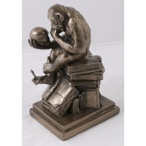 Charles Darwin Monkey - Bronze Finish