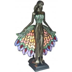 Peacock Lady Lamp + Free Bulb  41cm