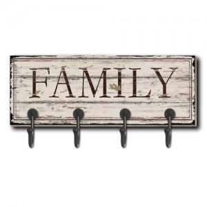 Family Wall Coat Hanger (4 Hooks)