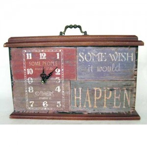 Do, Wish, Happen Table Clock