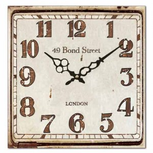 Bond Street Square Wall Clock