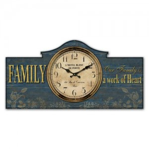 Family 'Work Of Heart' Wall Clock