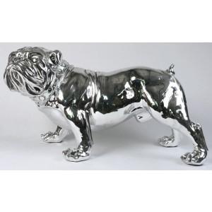 Electroplated Life Size Bulldog Figure - 75cm