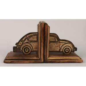 Mango Wood Retro Car Design Bookends