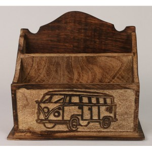 Mango Wood Camper Van Design Letter Rack