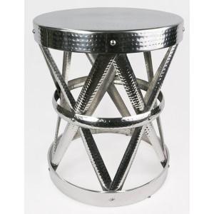Aluminium X Design Stool - 50cm