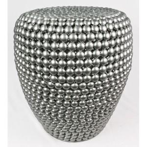 Aluminium Beaded Design Stool - 45cm