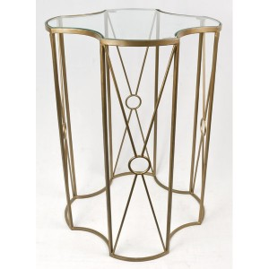 Antique Brass Glass Top Table