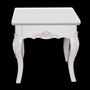 New Paris White French Style Dressing Table Stool