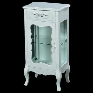 Paris Range White French Style Display Cabinet