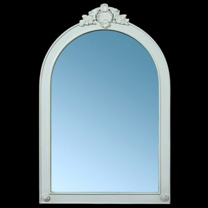 Paris Range White French Style Arched Wall Mirror
