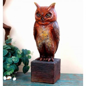 Resin Eagle Owl Sculpture