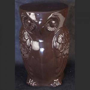 Ceramic Owl Stool Brown