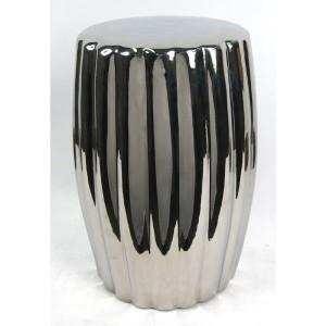 Ceramic Stool Garden Seat Silver