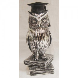 Electroplated Wise Owl Figure