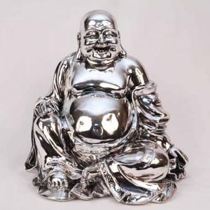 Electroplated Happy Buddha Figure
