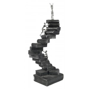 Electroplated Resin Sculpture 'Climbing to the Top'