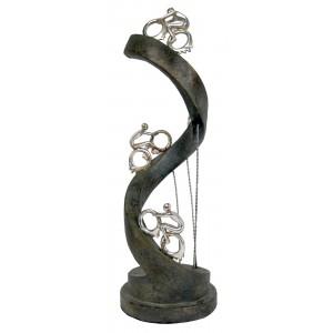Electroplated Resin Sculpture Bike Rider Spiral
