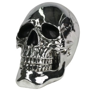 Electroplated Resin Skull - 19cm