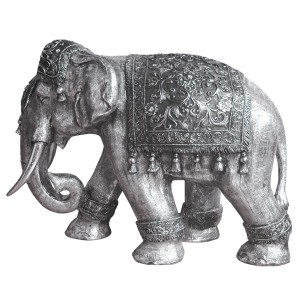 Electroplated Elephant Figure - 80cm