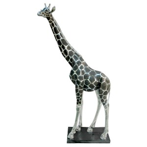Giraffe Electroplated Resin Statue 123cm