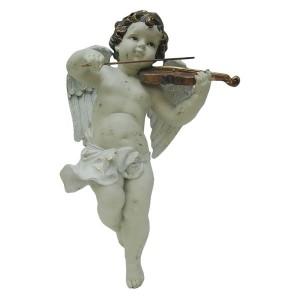Wall Hanging Cherub With Violin