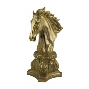 Horse Head Bust 41cm - Gold Finish