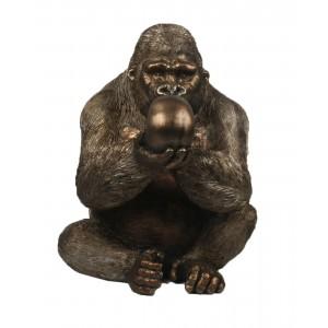 Gorilla With Skull 43cm