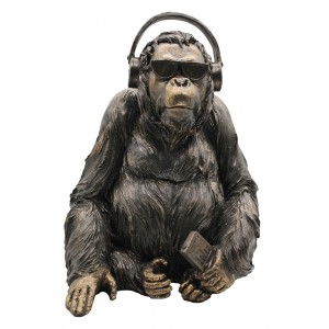 Gorilla Listening To Music - 36cm