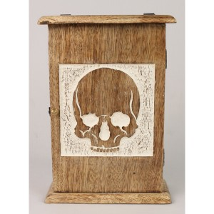 Mango Wood Key Box Skull Design