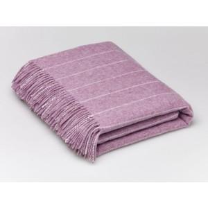 Pinstripe - Stripe - Lambswool - Lilac Throw