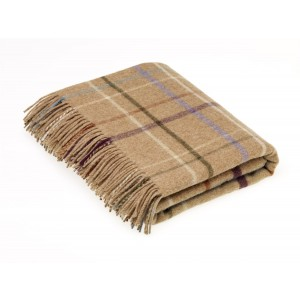 Country House - Check - Merino Lambswool - Litton Camel Throw