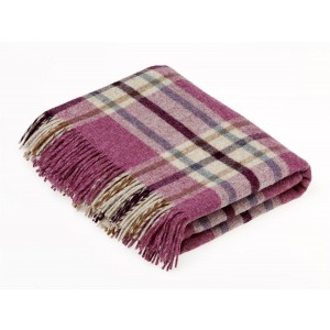 Shetland Berry - Check - Pure New Wool - Arncliffe Berry Throw