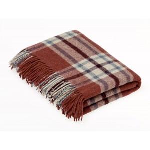 Shetland Brick - Check - Pure New Wool - Arncliffe Brick Throw