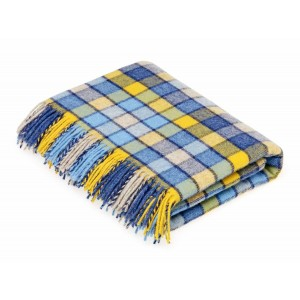 Blue & Yellow - Berlin - Pure New Wool - Blue/Yellow Throw